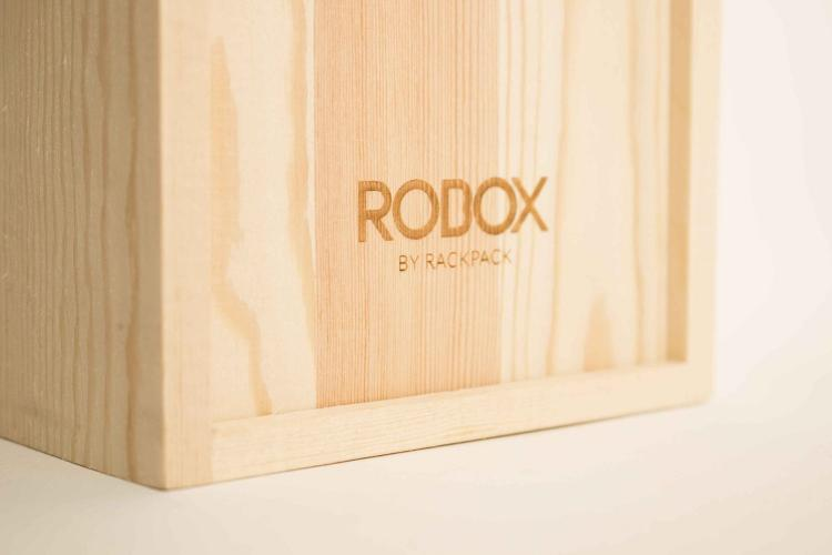 Robox Wooden Robot Wine Holder