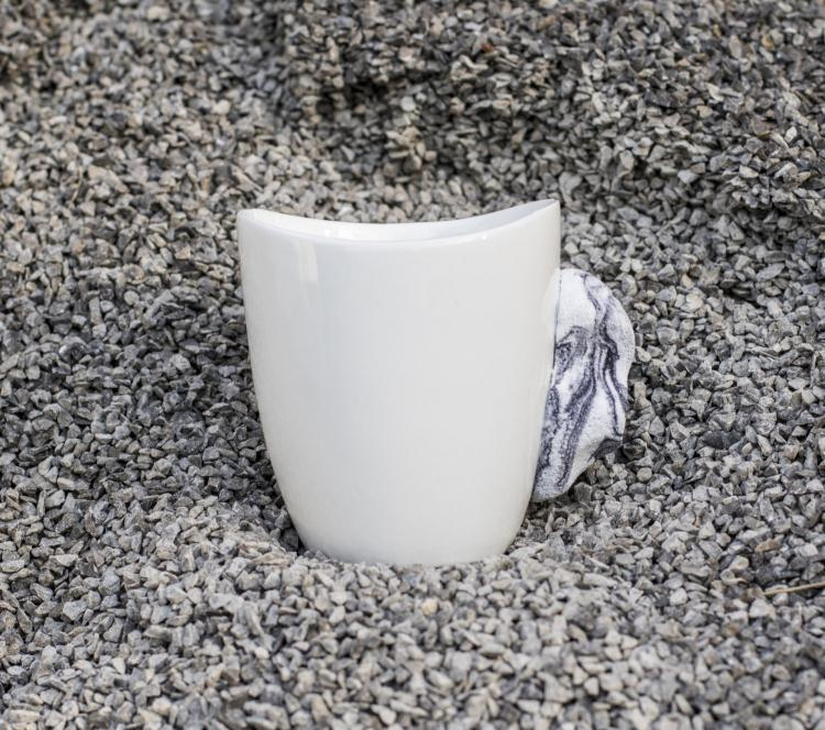 Rock Climbing Mug - Coffee Mug Made With Climbing Hold For Handle