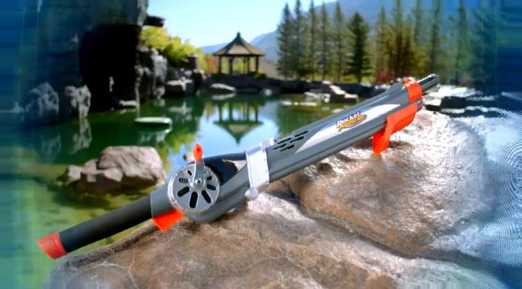 Rocket Fishing Rod - Kids Launching Fishing Rod - Fishing rod shoots out bobber instead of having to cast