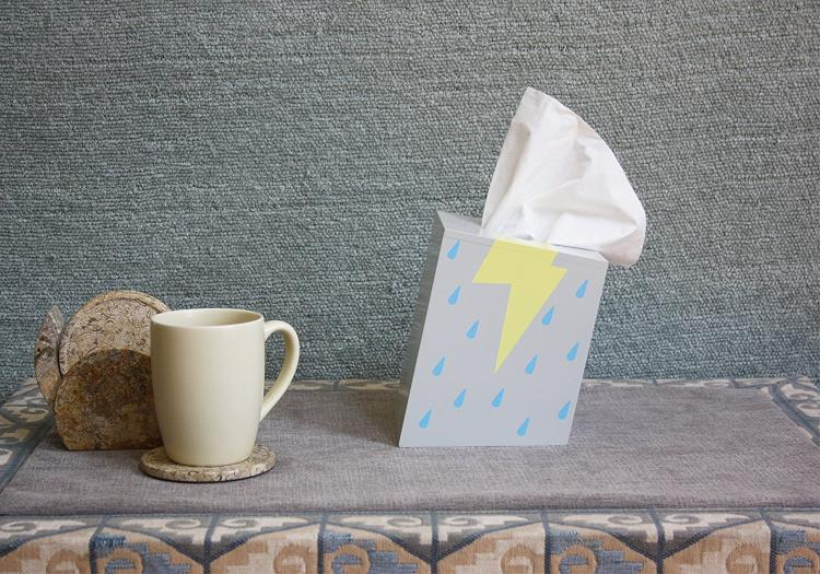 Rain Storm Cloud Tissue Dispenser