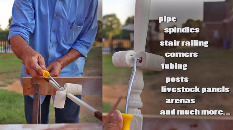 Roll-All Dual Paint Roller Helps Paint Fencing, Poles, and Corners
