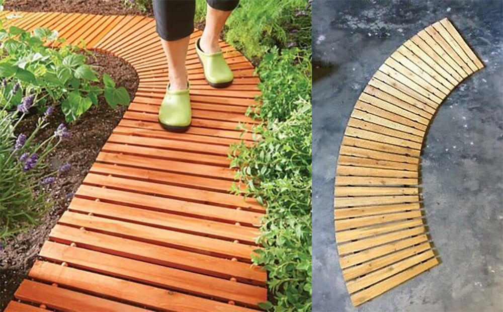 Roll-Out Wooden Walkway - Portable Roll-Out Straight Hardwood Pathway