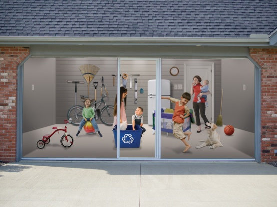 This Rolling Mosquito Screen Attaches To Your Garage Door