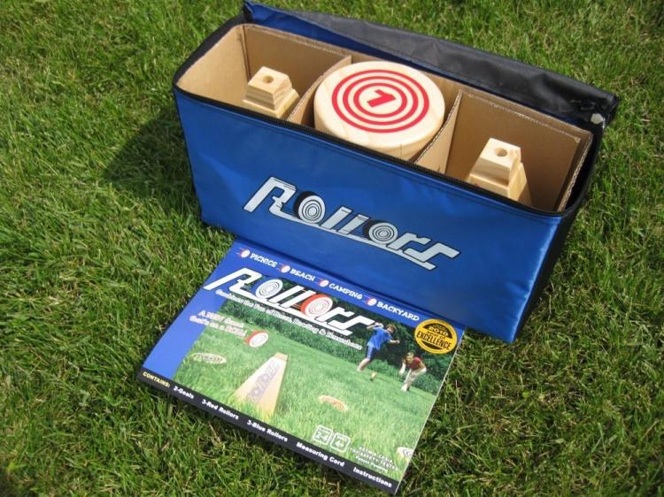 Rollors Yard Game - Rolling Wooden Discs Yard Game