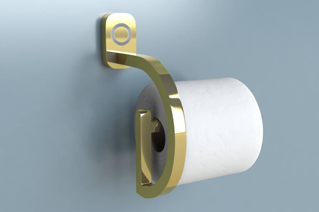 RollScout Toilet Paper Monitor - Smart toilet paper holder notifies you when running low