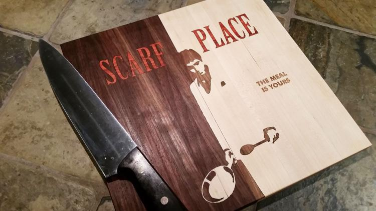 Scarf Place Cutting Board