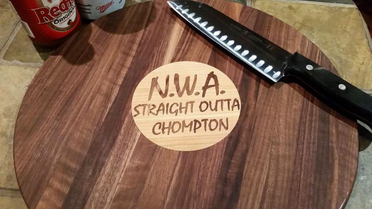 NWA Straight Outta Chompton Cutting Board