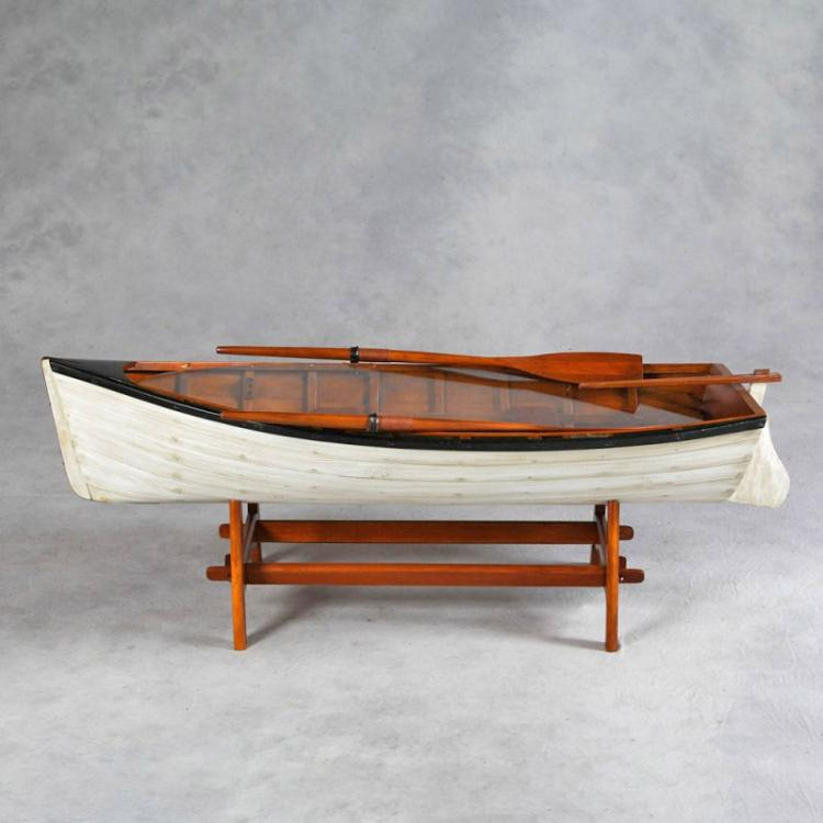 Vintage Row Boat Coffee Table