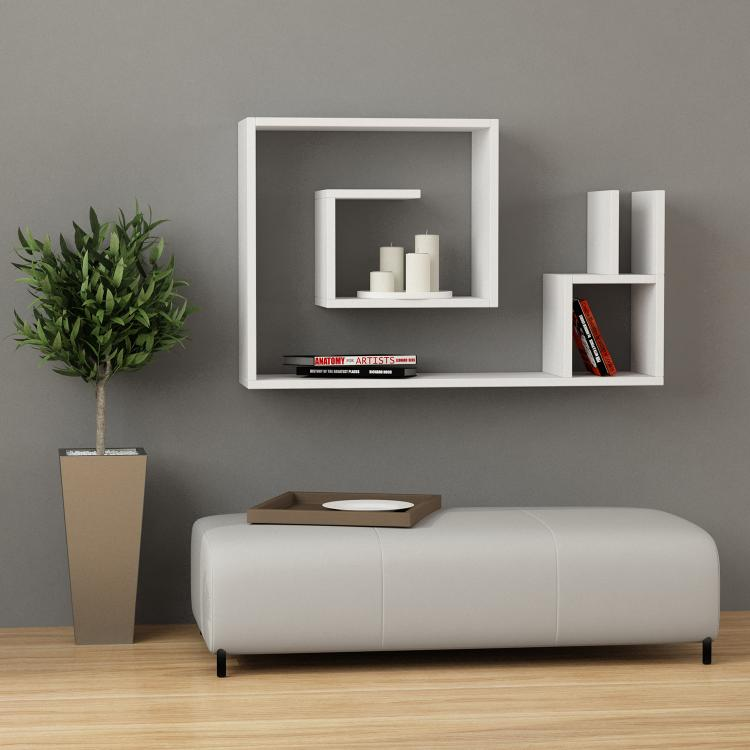 Wall Shelf salyangoz: a modern maze-like wall shelf