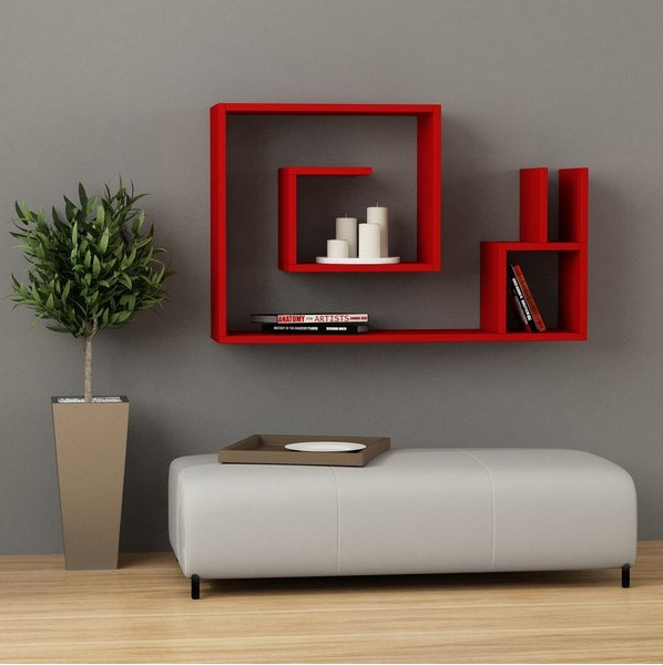 Modern Maze Wall Shelf