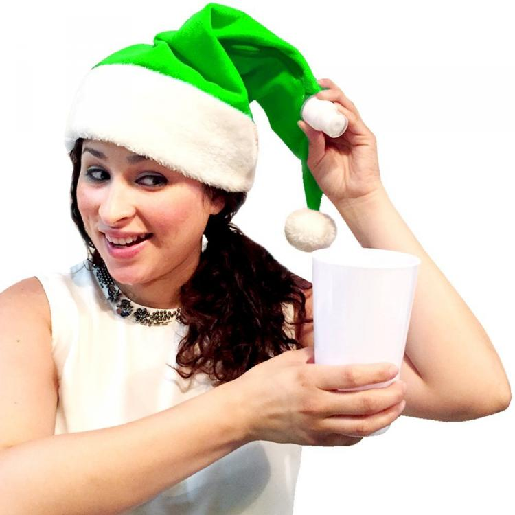 Wearable Santa Hat Flask - Christmas Hat Secret Flask