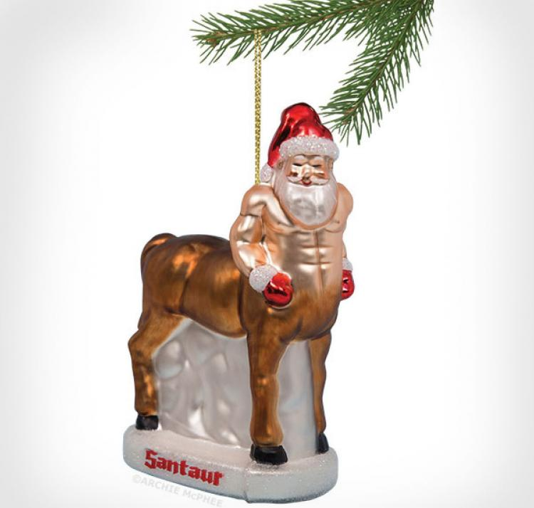 Santaur Christmas Tree Ornament