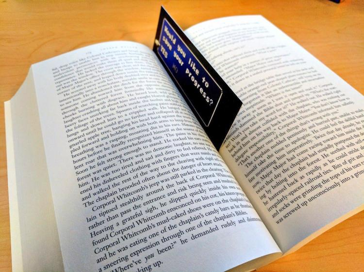 'Save Your Progress?' Geeky Video Game Bookmark - Final Fantasy video game themed bookmark