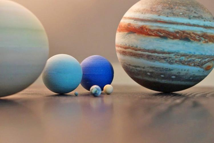Scaled Replica Of the Solar System Planets - 3D printed replica of planets to scale