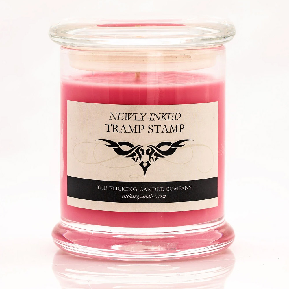 Newly-Inked Tramp Stamp Funny Scented Candle