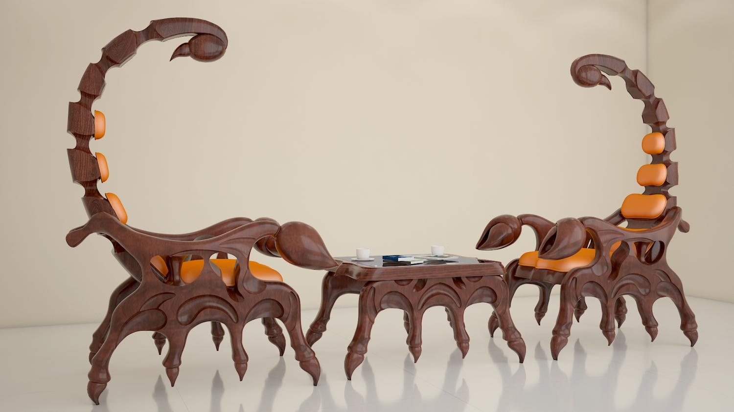 Scorpion Chair - Giant evil villain chair