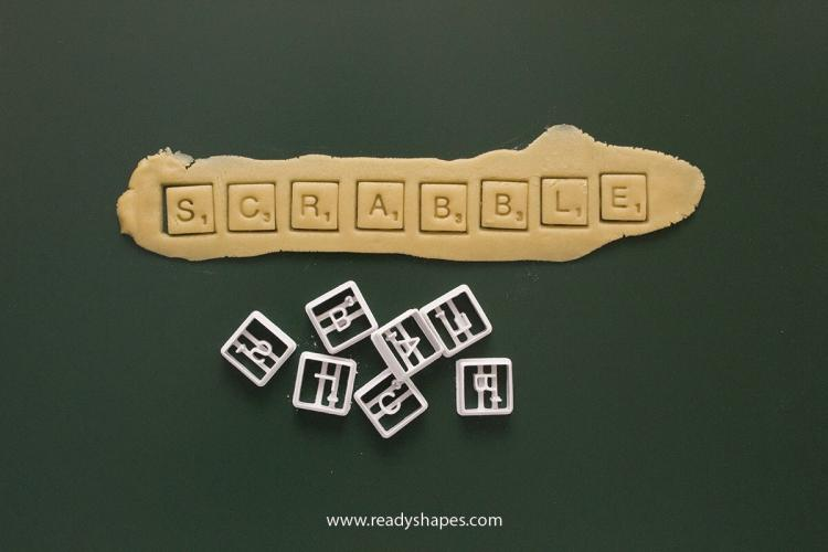 Scrabble Cookie Cutters - Scrabble Letter Pieces Cookie Cutter
