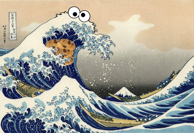 Sea Is For Cookie T-Shirt - Cookie Monster Ocean Wave Shirt