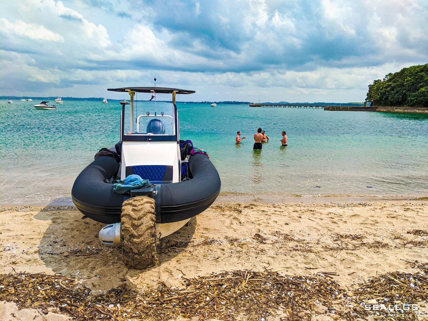 Sealegs Amphibious Boats Feature 3 Retractable Wheels To Get In and Out Of Water