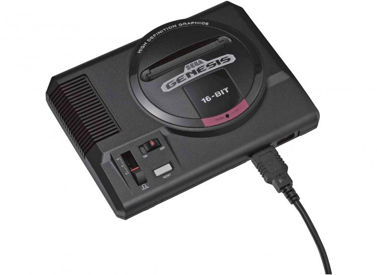 Sega Genesis Mini - Sega classic console with 40 pre-loaded games