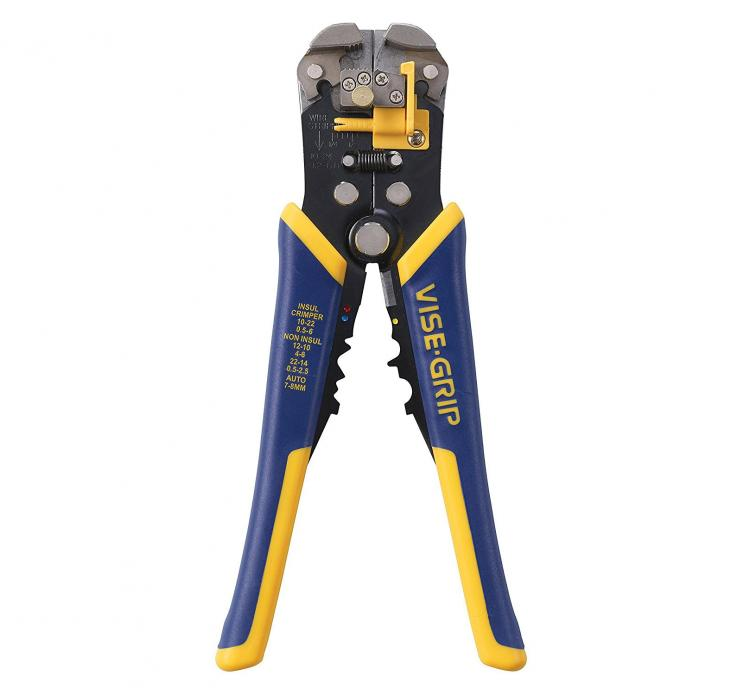 Self-Adjusting Wire-Stripper and Vise Grip Combo - Easiest wire stripping tool