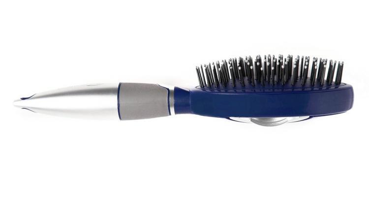 Qwik-Clean Hair Brush - Self-Cleaning Hair Brush - Pull Back Release Hairs
