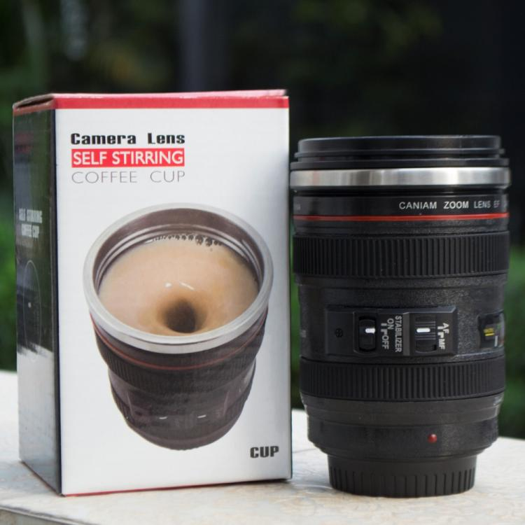 Self-Stirring Camera Lens Coffee Mug - Electronic Stirring Camera Lens Mug