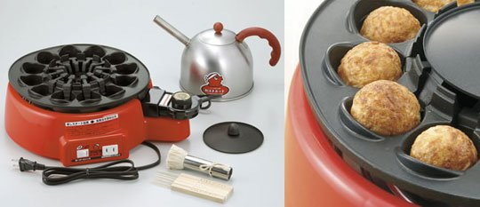 Self-Turning Takoyaki Machine Automatically Flips Food While Cooking - Automatic flipping Japanese ball cooker