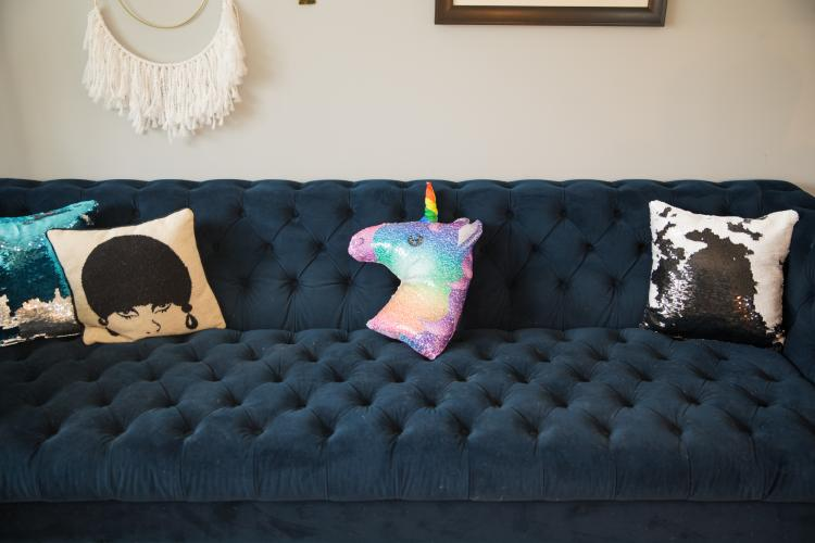Sequin Unicorn Pillow - Color changing reversible unicorn pillow