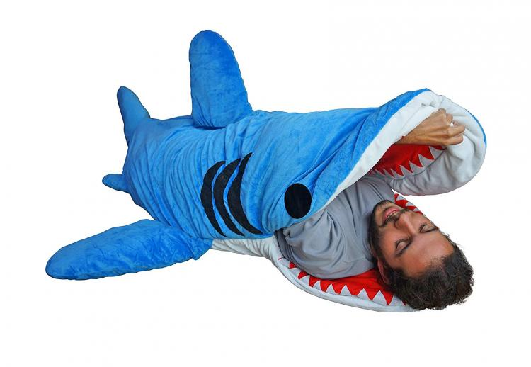 Shark Bite Sleeping Bag - Adult shark sleeping bag