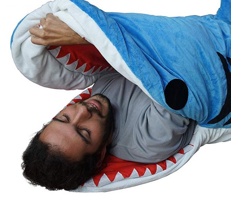Shark Bite Sleeping Bag - Adult shark sleeping bag