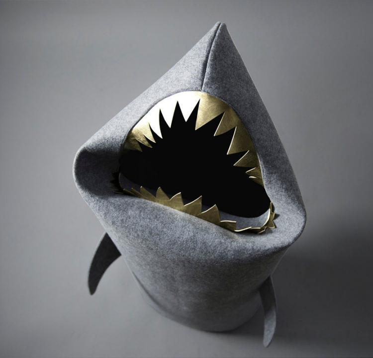 Shark Laundry Hamper - Shark Toy Box