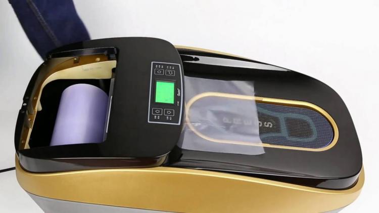 Automatic Shoe Cover ~ Automatic disposable shoe cover machine