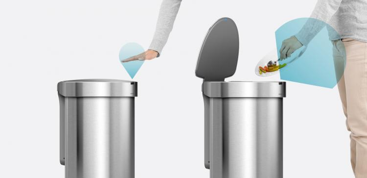 Simplehuman Modern Trash Can Has Auto Opening Sensor And