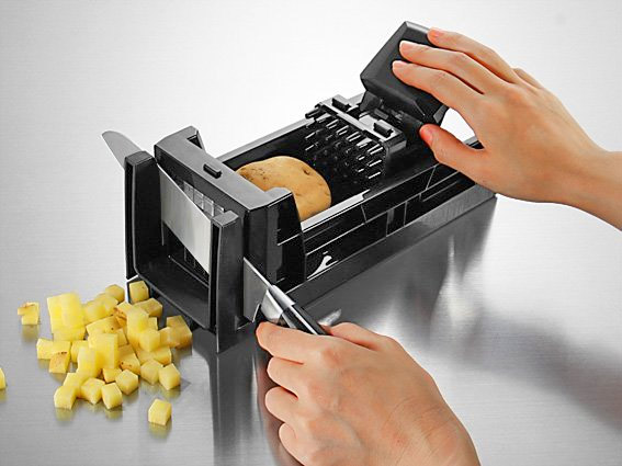 Simposh Easy Food Dicer - Hand Push Pedal Food Dicer - Hand Pump Food Dicer