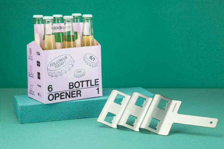 SIXOVERONE Six Pack Bottle Opener - 6-in-1 Bottle Opener