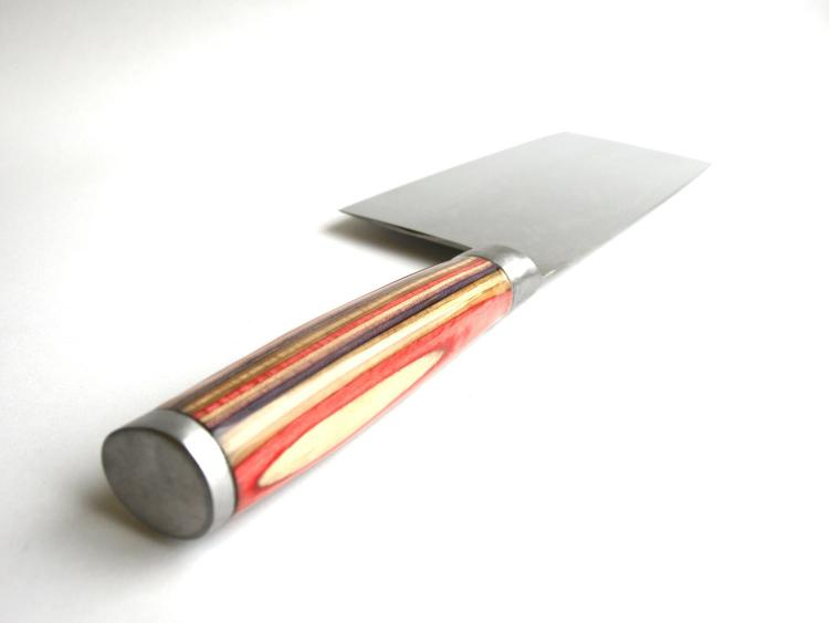Chopping Knife Made from Recycled Skateboard Deck