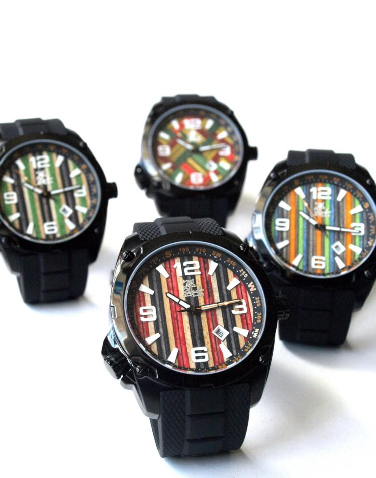 Watches Made from Recycled Skateboard Deck