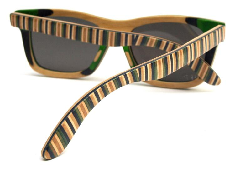Sunglasses Made from Recycled Skateboard Deck