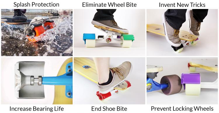Longboard Wheel Shields