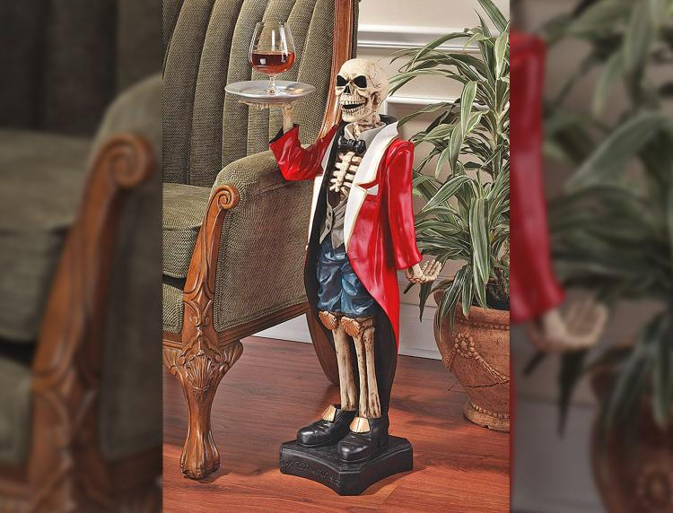 Skeleton Butler Side Table - Bones the butler drink holder resin table