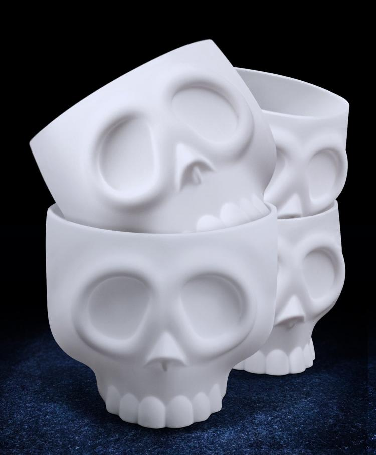 Skeleton Head Cupcake Molds - Brain Cupcakes