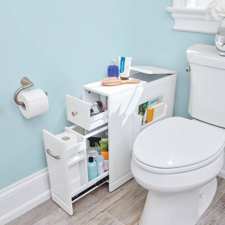 Skinny Bathroom Organizer For Small Bathrooms - Tight Space Bathroom Organizer
