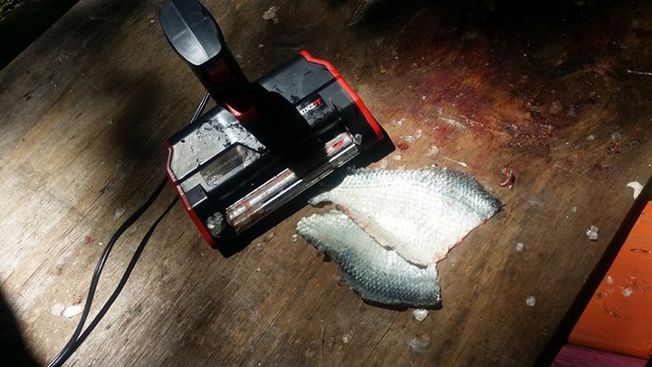 SKINZIT Automatic Electric Fish Skinner - Removes rib bones and skins a fish in seconds