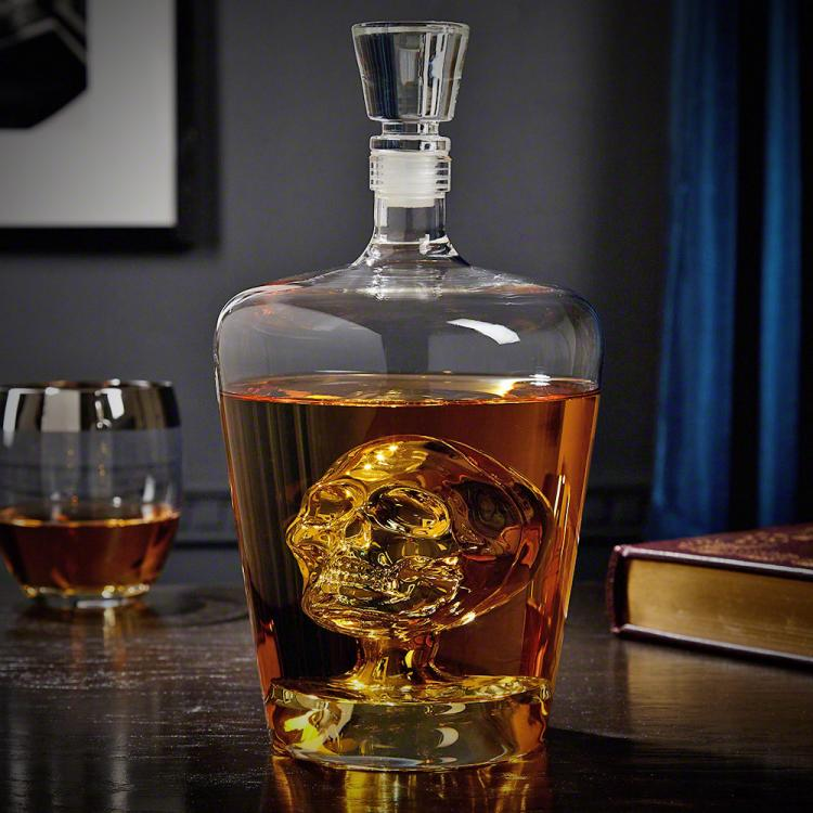 Phantom Skull Liquor Decanter - Decanter will skull inside