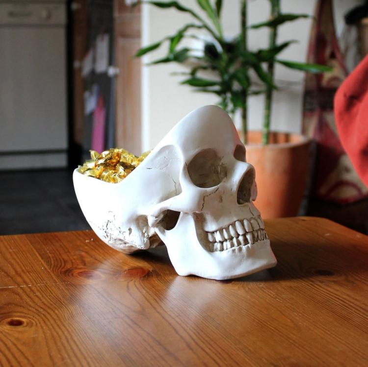 Skull Shaped Desk Tidy
