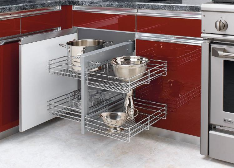 Blind Corner Cabinet Slides All The Way Out For Easy ...