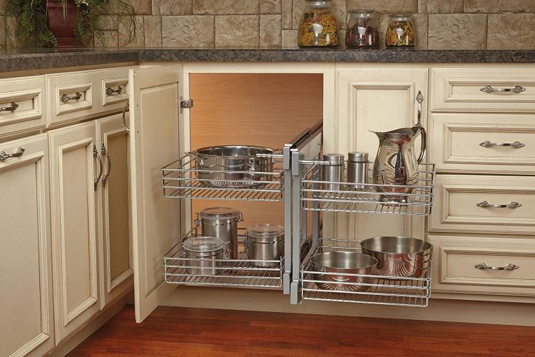 kitchen corner cabinet shelf blind corner cabinet slides all the way out for easy 6606