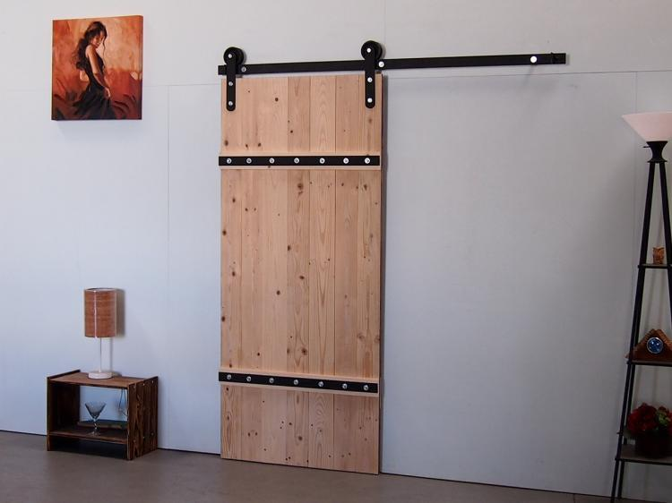 Sliding Single Barn Door Kit - Wood