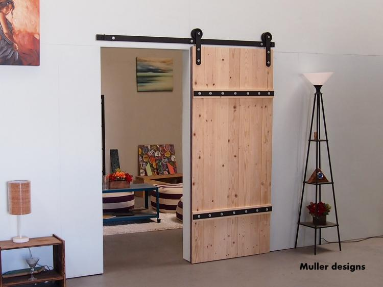 Sliding double barn door kit for Single sliding barn door